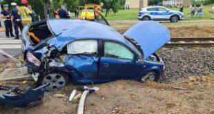 Wypadek szynobusa z osóbką w Szreniawie (gmina Komorniki)