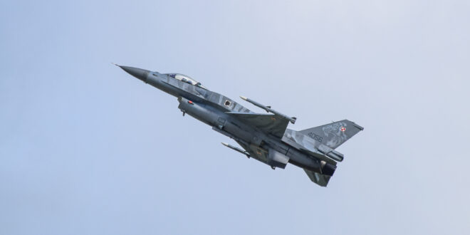 Samolot bojowy nad Luboniem