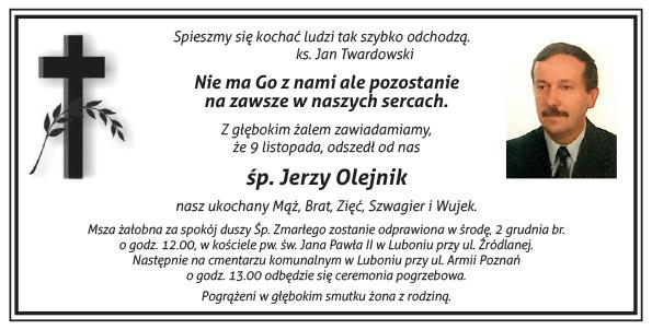 nekrolog śp. Jerzy Olejnik