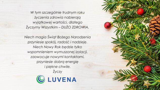 Życzenia świąteczne - firma Luvena
