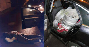 Zatrzymany na gorącym uczynku, po kradzieży 21 felg aluminiowych w Luboniu