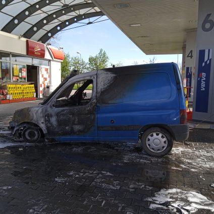 Samozapłon na stacji paliw w Luboniu