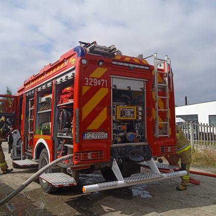 Pożar na ul. Kasztelańskiej w Luboniu